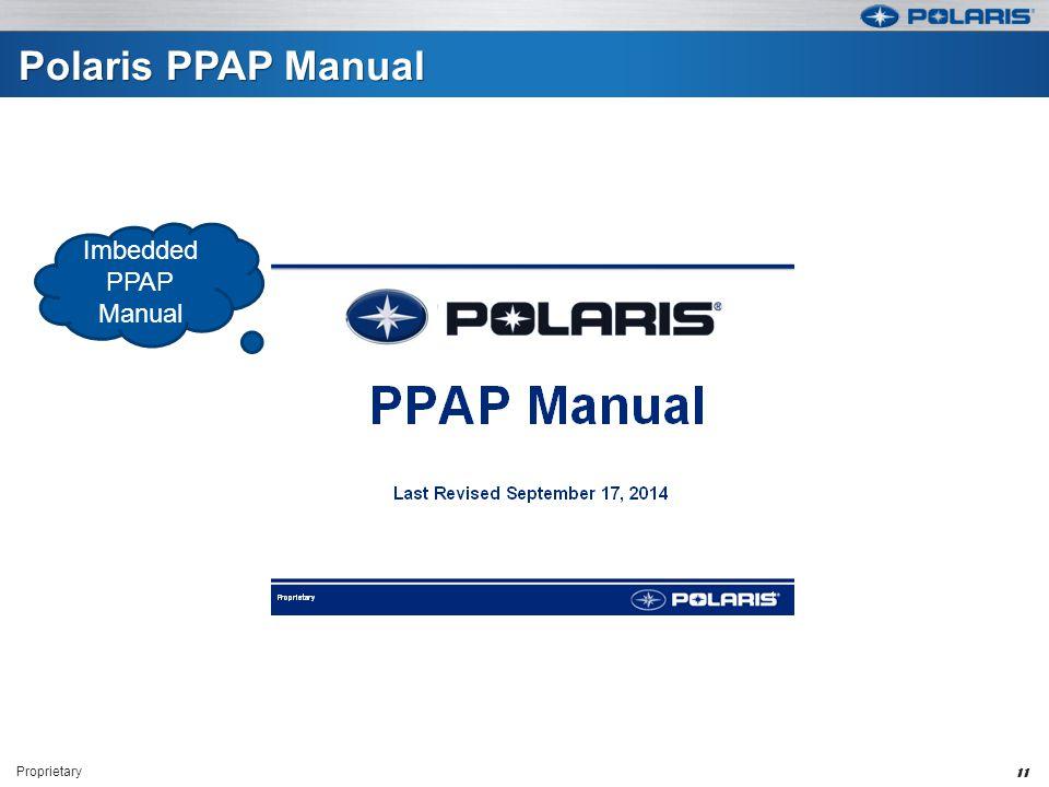 Polaris PPAP Manual Imbedded PPAP Manual Proprietary