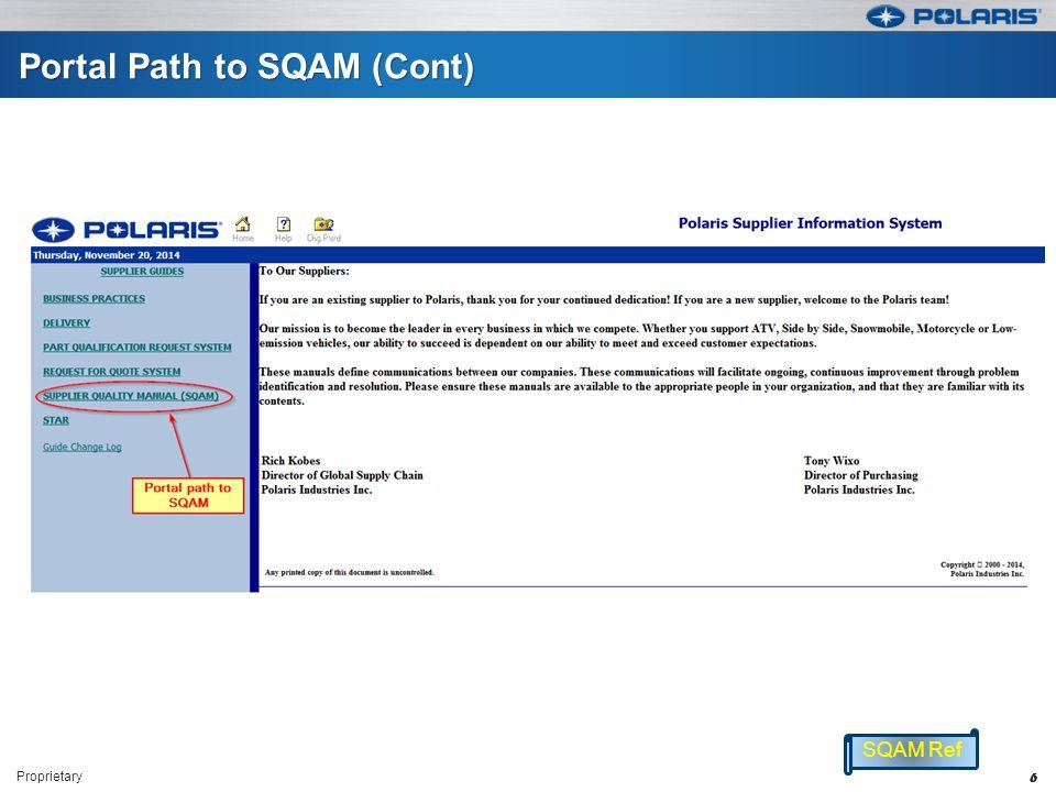 Portal Path to SQAM (Cont)
