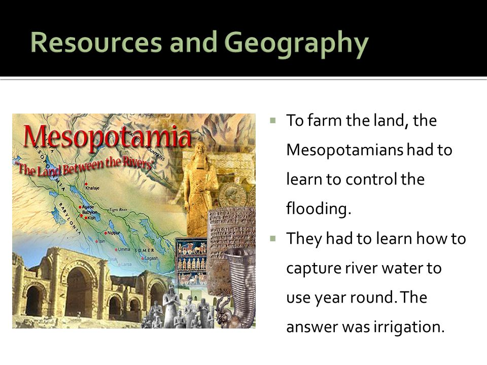 Resources and Geography