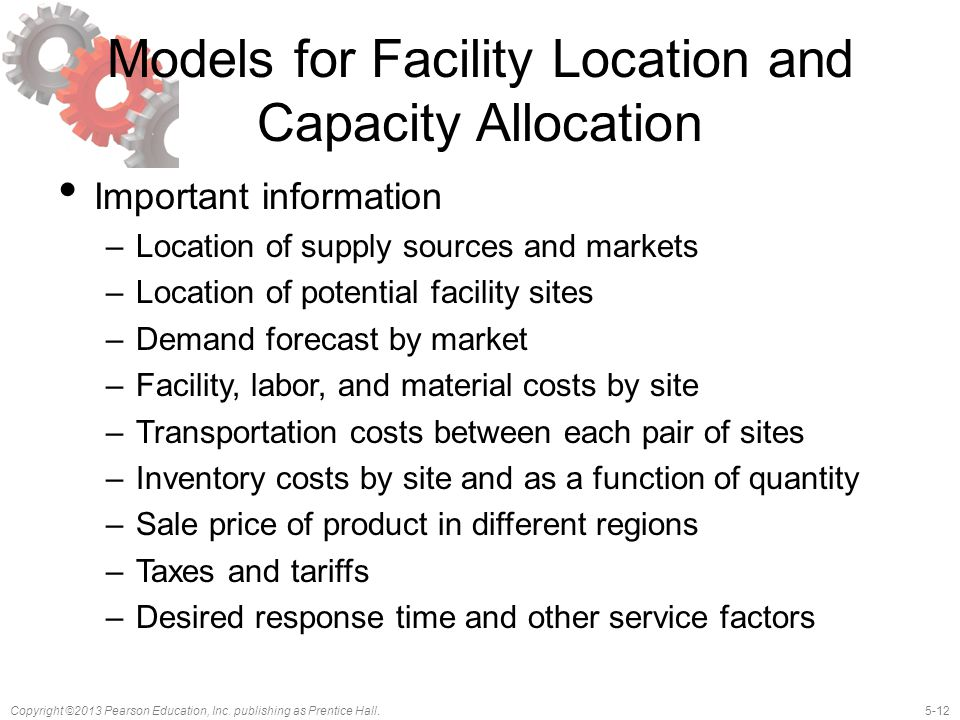 Models for Facility Location and Capacity Allocation