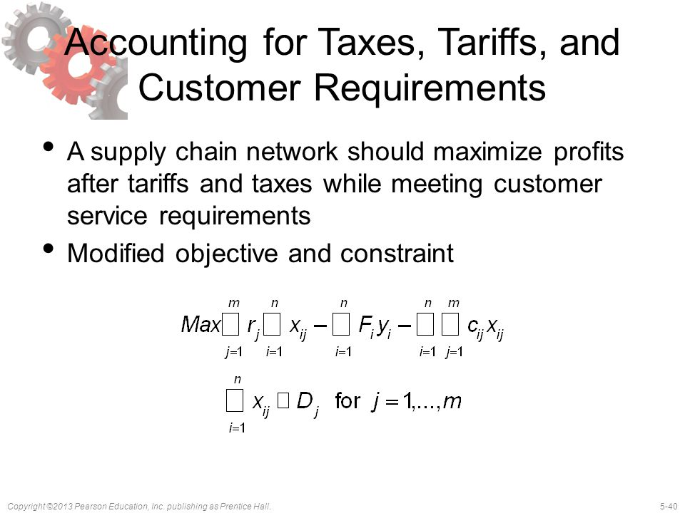 Accounting for Taxes, Tariffs, and Customer Requirements
