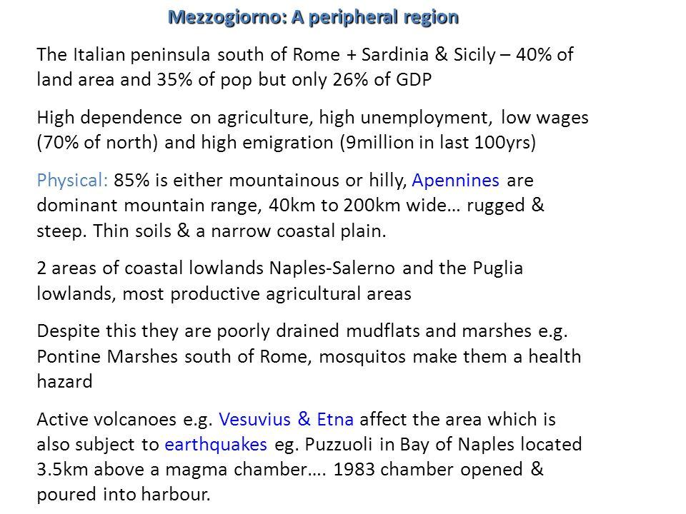 Mezzogiorno: A peripheral region