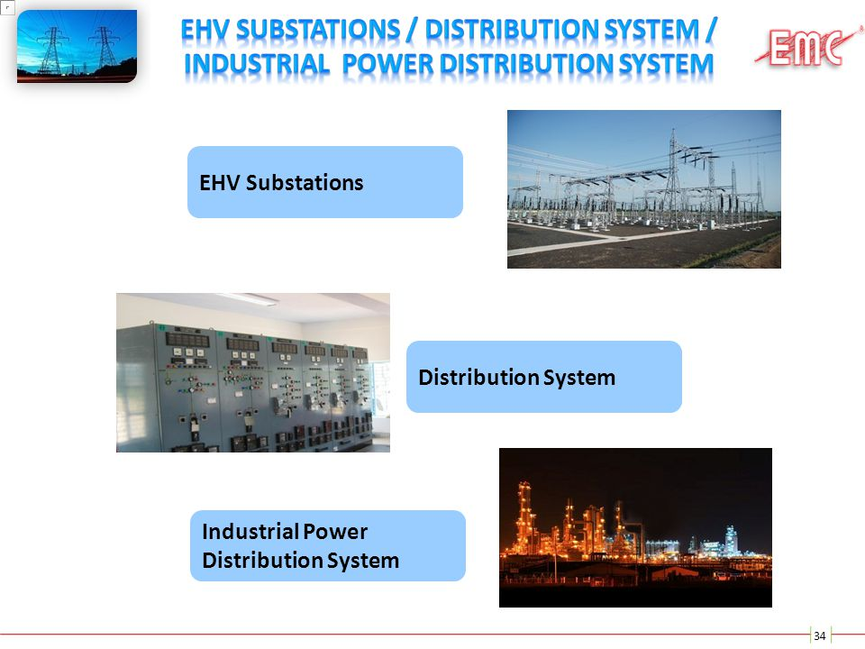 EHV Substations / Distribution System / Industrial Power Distribution System