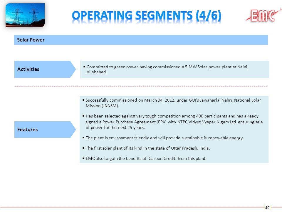 Operating Segments (4/6)
