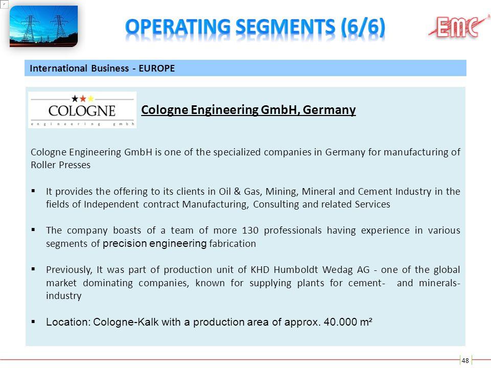 Operating Segments (6/6)