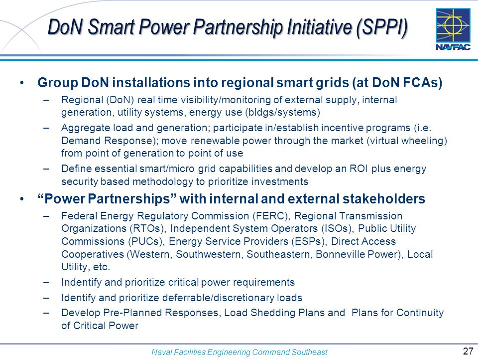 DoN Smart Power Partnership Initiative (SPPI)