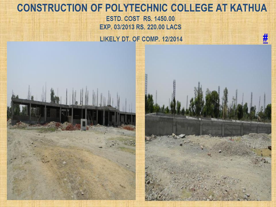 Construction of Polytechnic College at Kathua