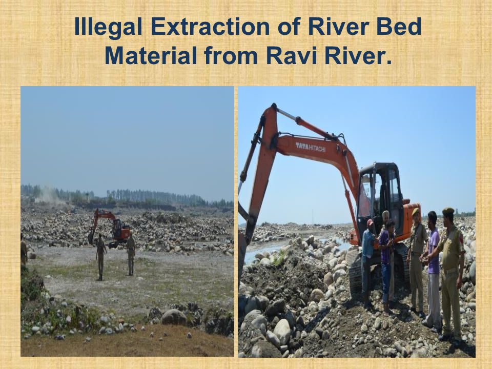 Illegal Extraction of River Bed Material from Ravi River.