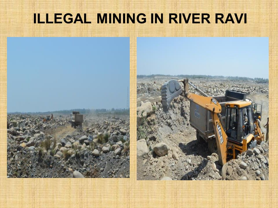 illegal Mining in river Ravi