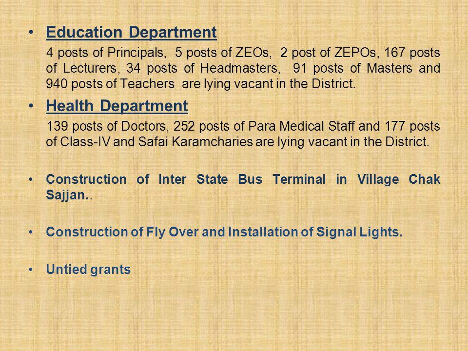 Education Department Health Department