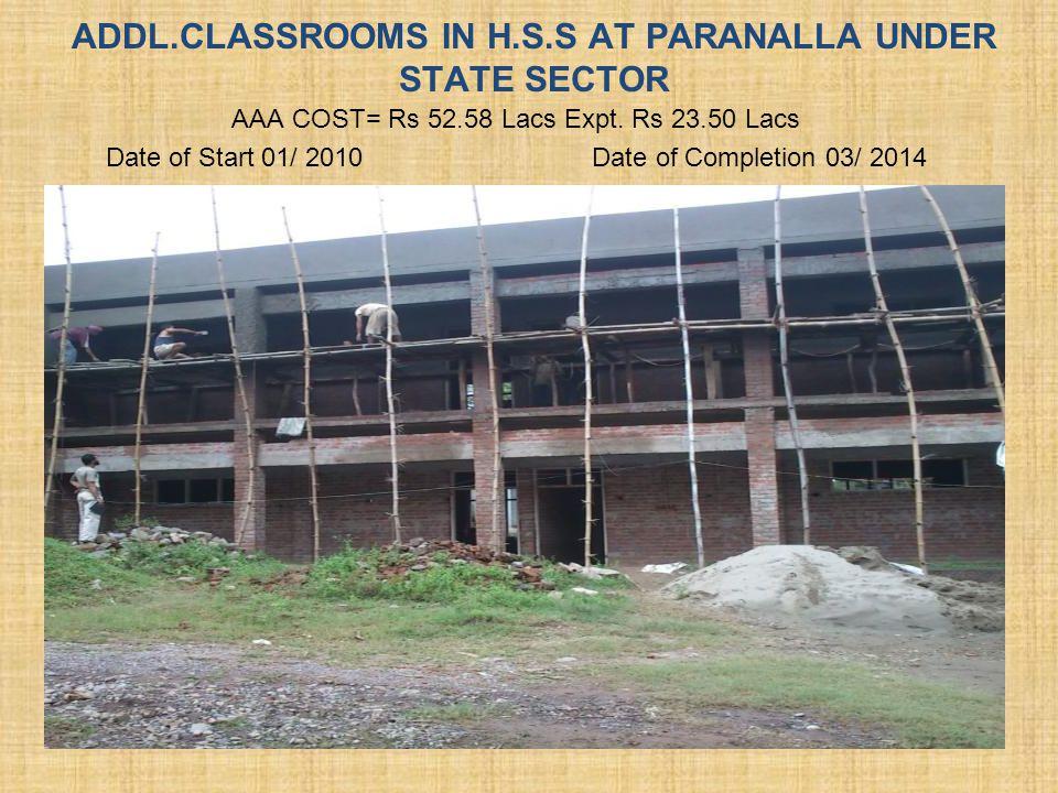 04 NOS. CLASSROOMS IN H.S.S AT PARANALLA