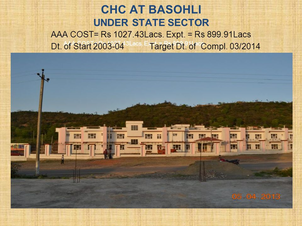 CHC AT BASOHLI UNDER STATE SECTOR