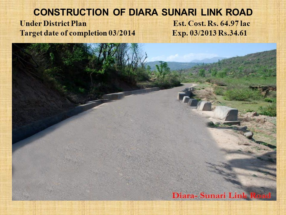Construction of Diara Sunari link road