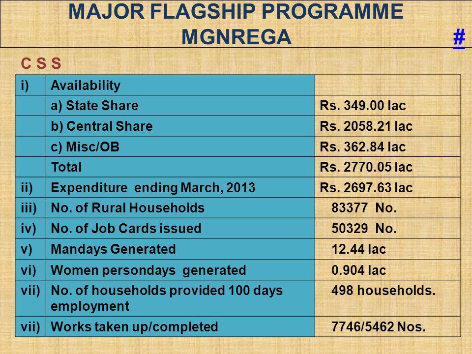 Major Flagship Programme MGNREGA #