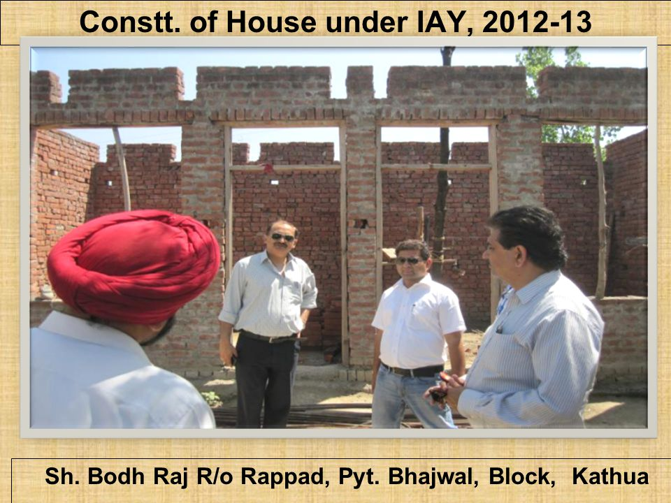 Constt. of House under IAY, 2012-13