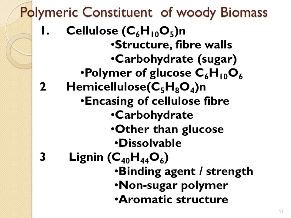 Polymeric Constituent of woody Biomass