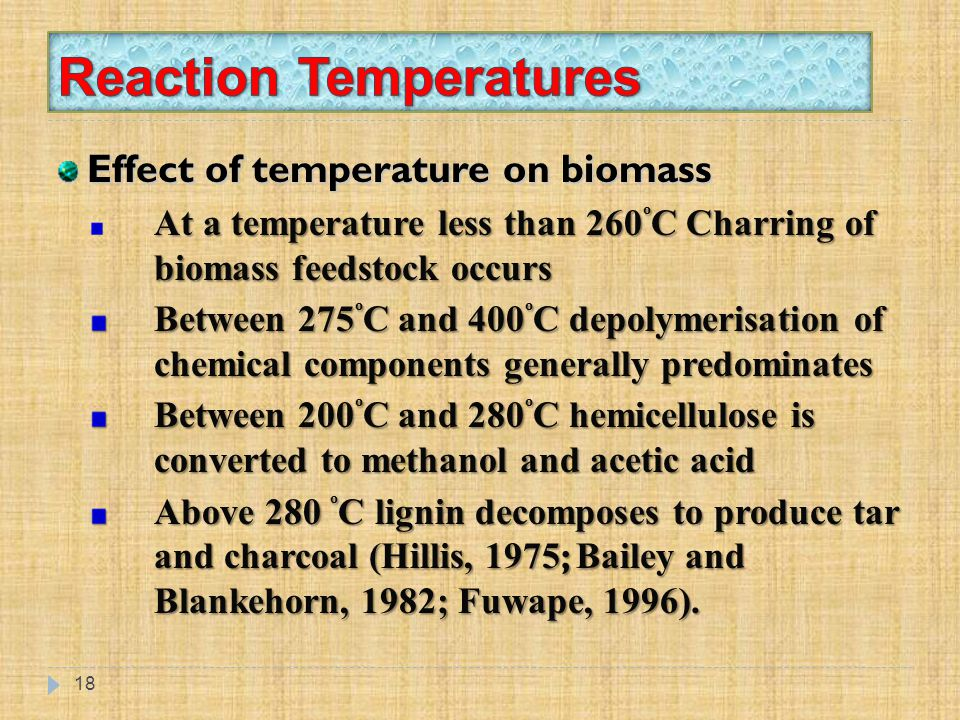 Reaction Temperatures