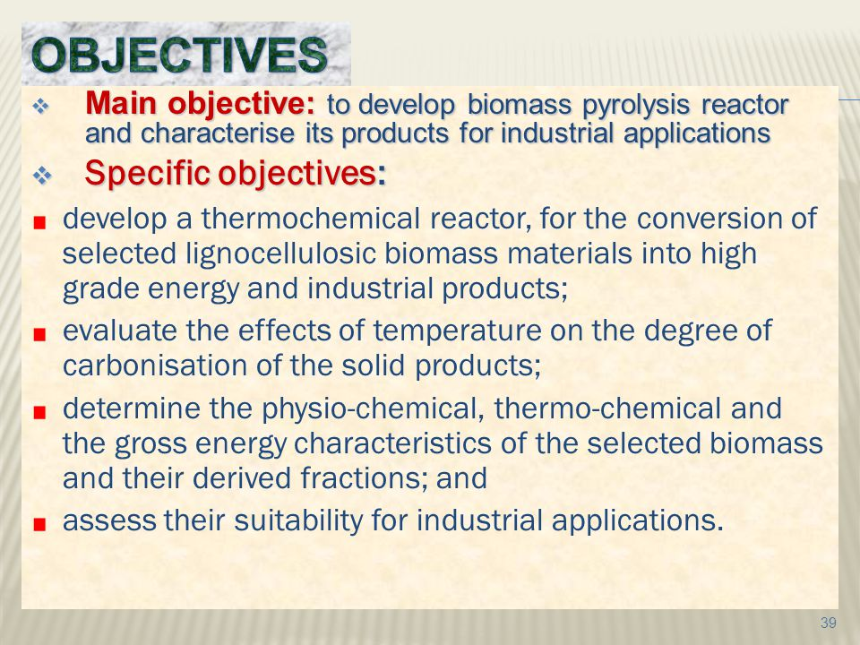 OBJECTIVES Specific objectives: