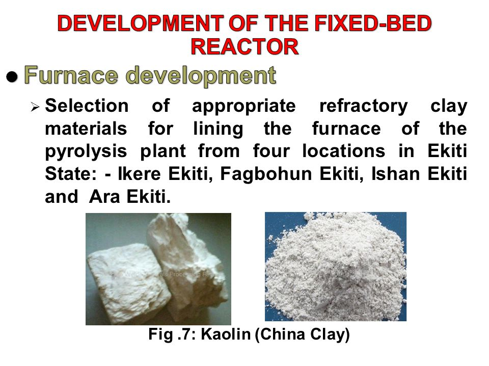 DEVELOPMENT OF THE FIXED-BED REACTOR