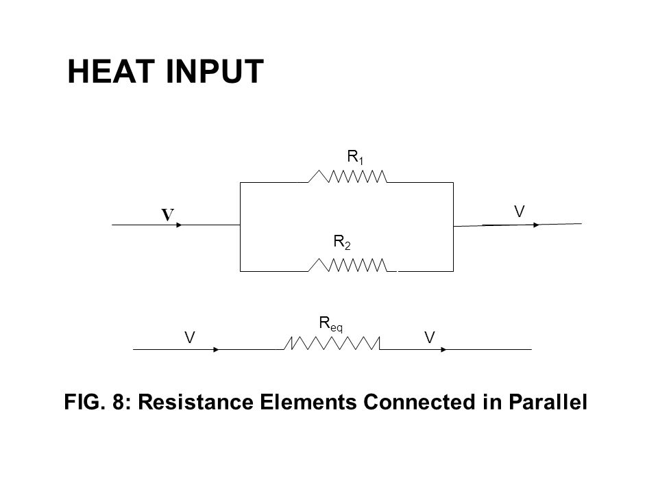 HEAT INPUT R1 V RR2 R2 FIG. 8: Resistance Elements Connected in Parallel Req