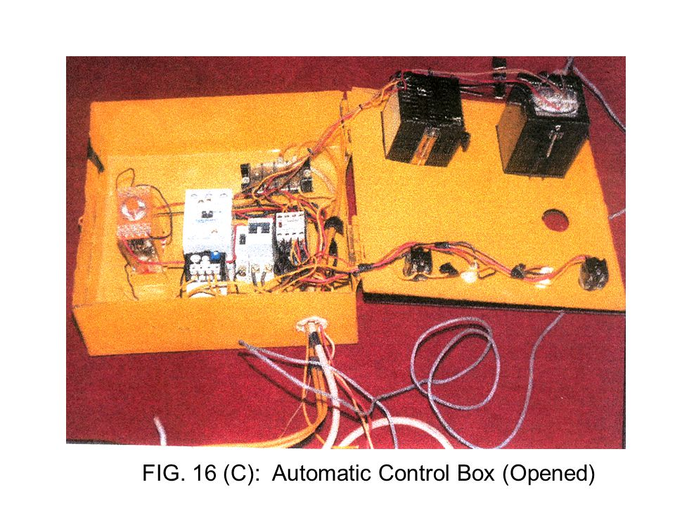 FIG. 16 (C): Automatic Control Box (Opened)