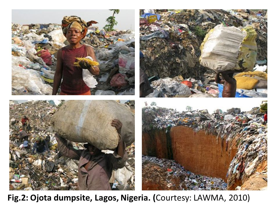 Fig.2: Ojota dumpsite, Lagos, Nigeria. (Courtesy: LAWMA, 2010)