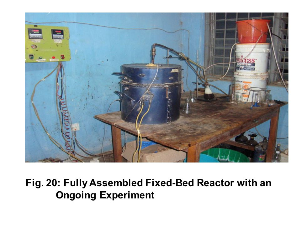 Fig. 20: Fully Assembled Fixed-Bed Reactor with an Ongoing Experiment