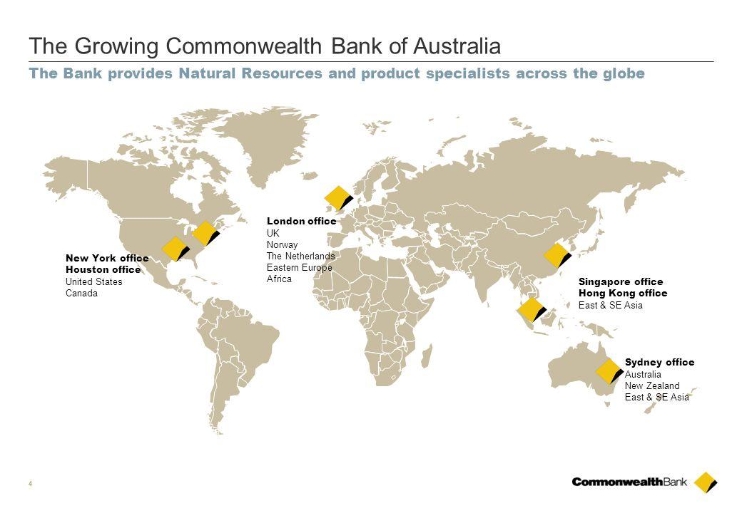 The Growing Commonwealth Bank of Australia