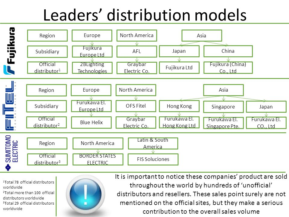 Leaders' distribution models
