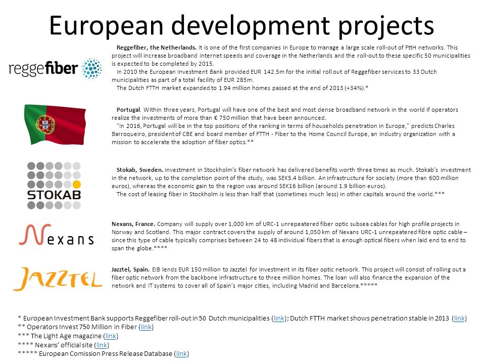 European development projects