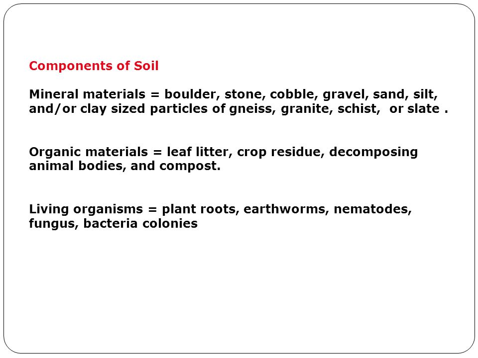 Components of Soil