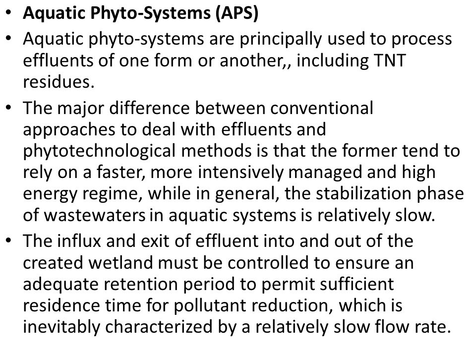 Aquatic Phyto-Systems (APS)