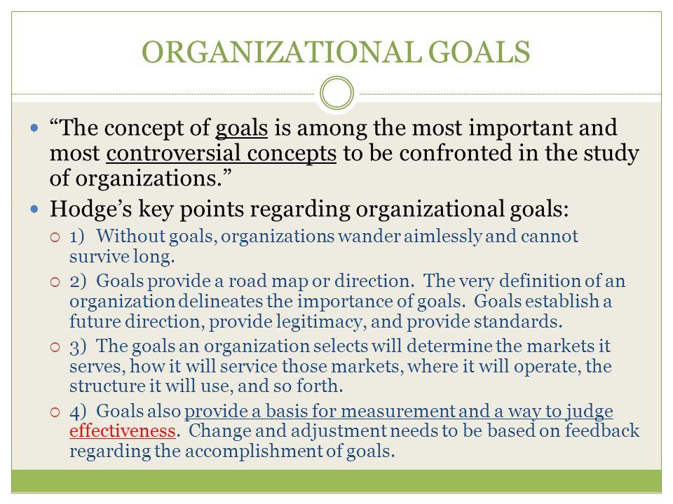 ORGANIZATIONAL GOALS