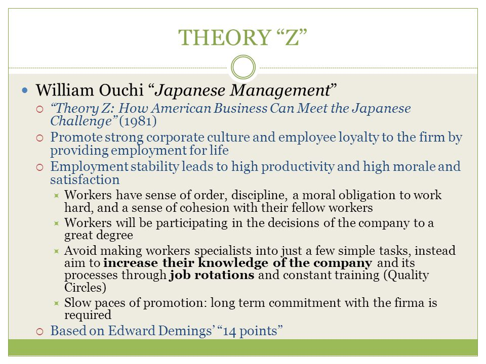 THEORY Z William Ouchi Japanese Management