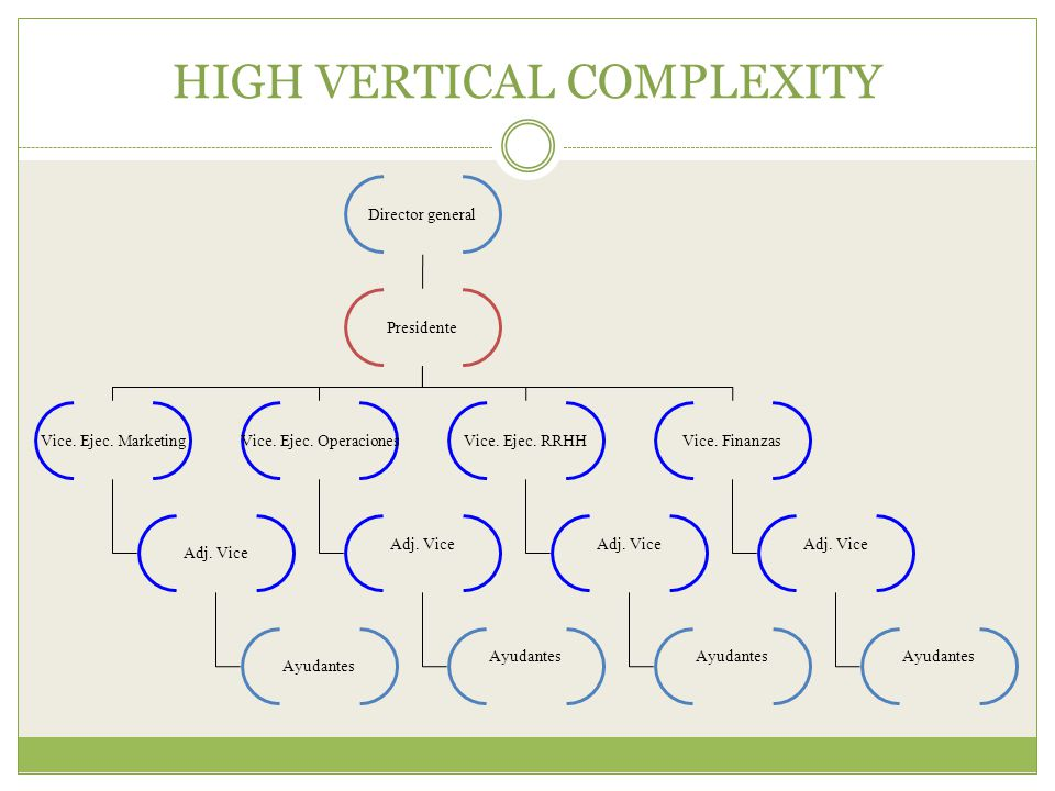 HIGH VERTICAL COMPLEXITY