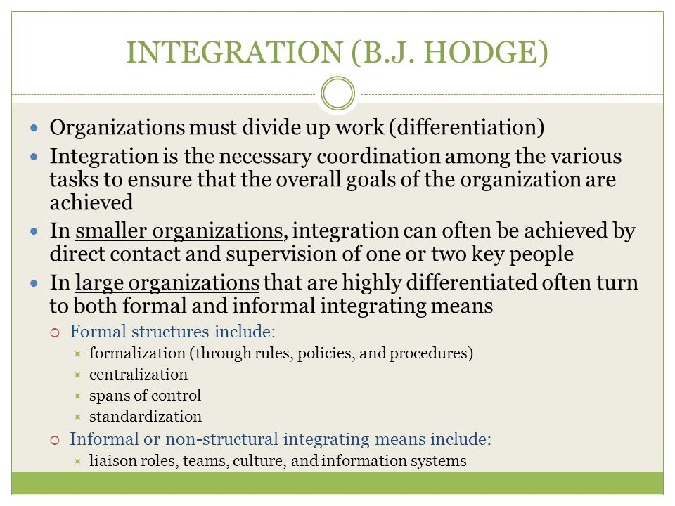 INTEGRATION (B.J. HODGE)