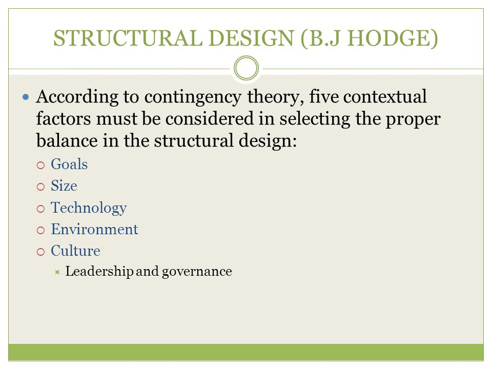STRUCTURAL DESIGN (B.J HODGE)