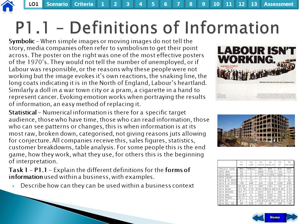 P1.1 – Definitions of Information