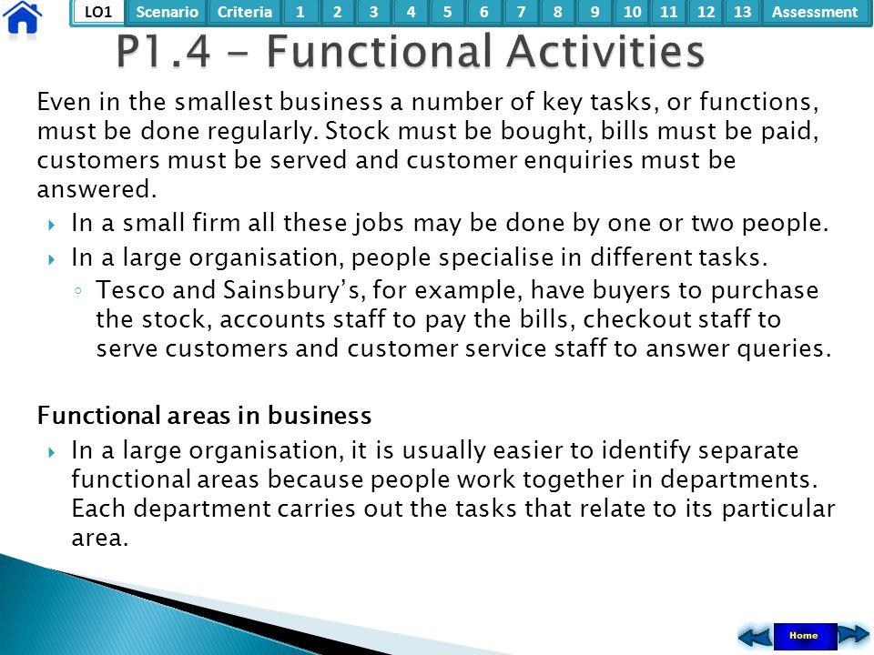 P1.4 - Functional Activities