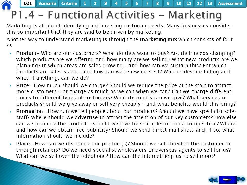 P1.4 - Functional Activities - Marketing