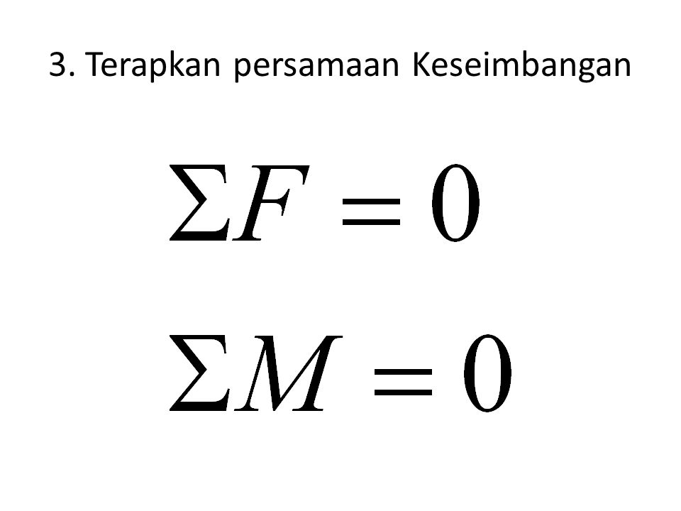 3. Terapkan persamaan Keseimbangan
