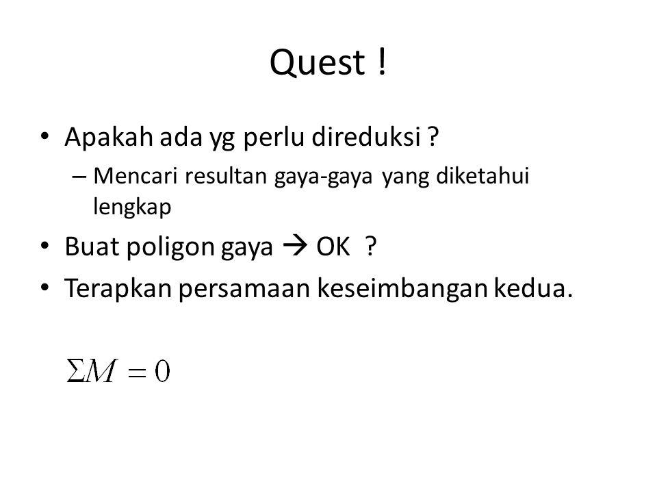 Quest ! Apakah ada yg perlu direduksi Buat poligon gaya  OK