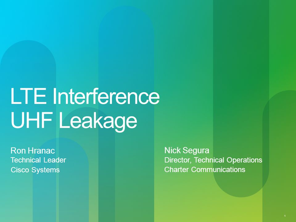 LTE Interference UHF Leakage