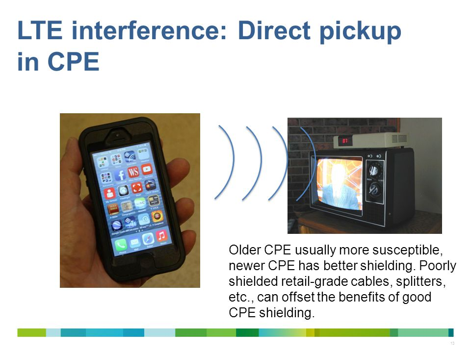 LTE interference: Direct pickup in CPE