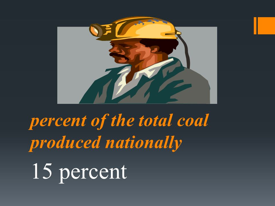 percent of the total coal produced nationally