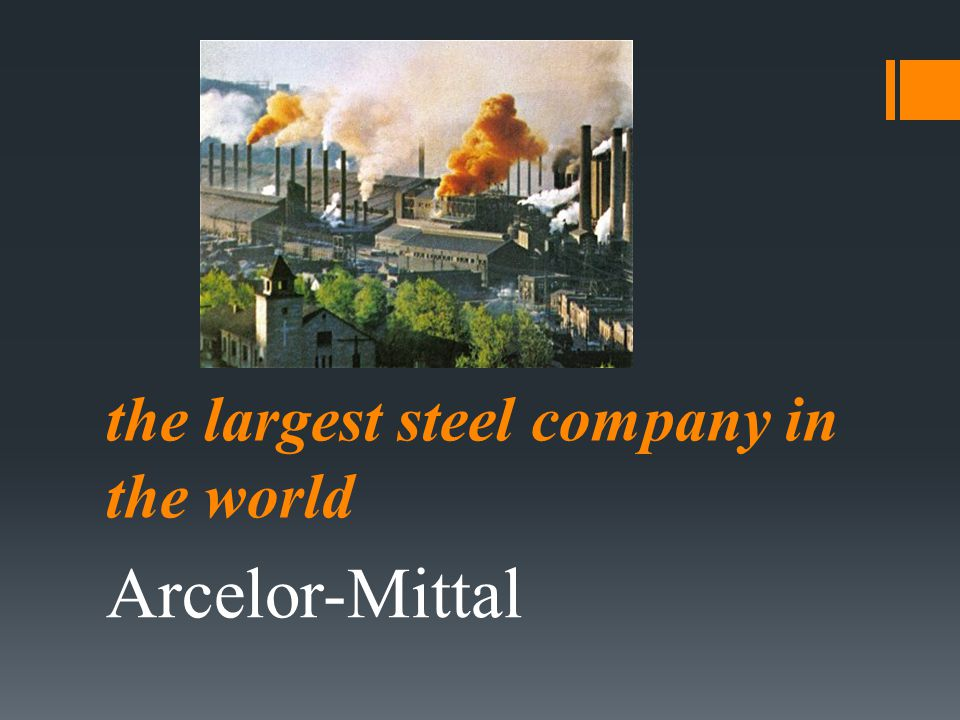 the largest steel company in the world