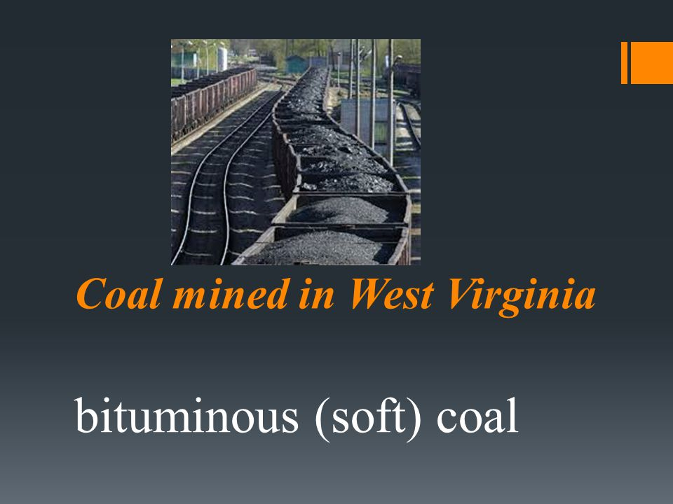 Coal mined in West Virginia