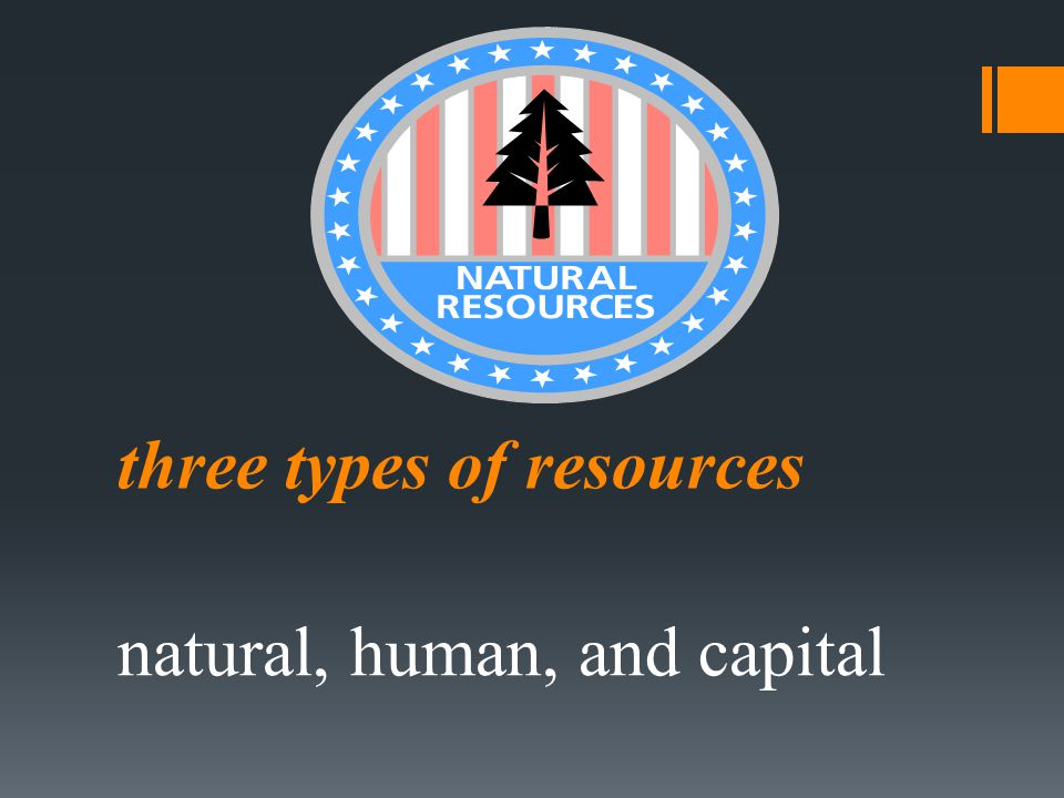 three types of resources