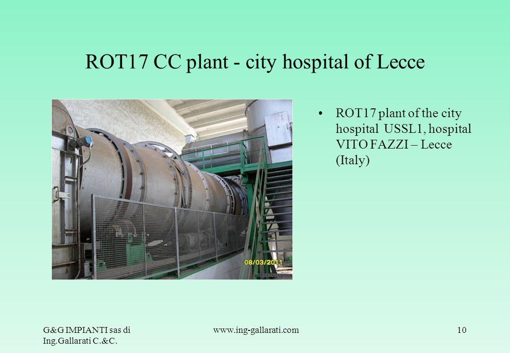 ROT17 CC plant - city hospital of Lecce
