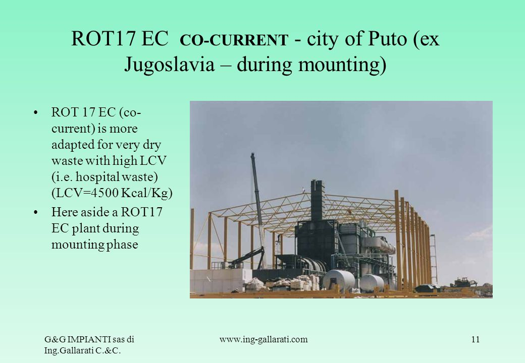 ROT17 EC CO-CURRENT - city of Puto (ex Jugoslavia – during mounting)